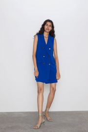 SLEEVELESS BUTTONED DRESS at Zara