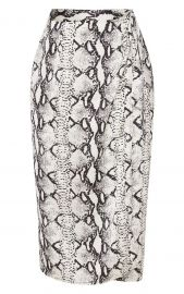 SNAKESKIN SATIN PRINTED WRAP MIDI SKIRT at Pretty Little Thing