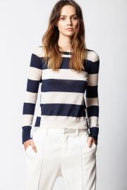 SOURCE CACHEMIRE STRIPES SWEATER at Zadig and Voltaire