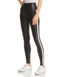 SPANX amp reg  Faux Leather Stripe Leggings Women - Bloomingdale s at Bloomingdales