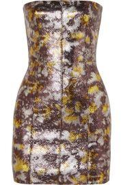 SPRWMN - Metallic snake-effect leather mini dress at Net A Porter