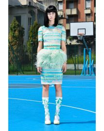 SS 15 Feather Skirt at Daizy Shely