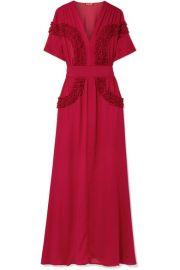 STAUD   Isa ruffled chiffon dress at Net A Porter