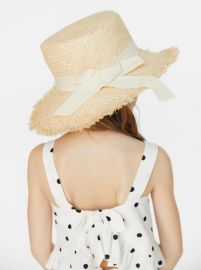 STRAW HAT WITH BAND at Zara