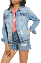 STS Blue Ella Boyfriend Denim Jacket   Nordstrom at Nordstrom