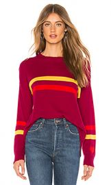 SUNDRY Cashmere Blend Crew Neck Sweater in Berry from Revolve com at Revolve