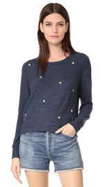 SUNDRY Star Patches Cropped Sweatshirt at Shopbop