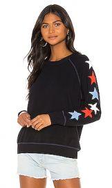 SUNDRY Stars Raglan Sweatshirt in Navy from Revolve com at Revolve