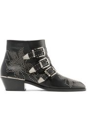 SUSANNA STUDDED LEATHER ANKLE BOOTS at Net A Porter