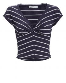 Sabina Striped Crop Top at Intermix