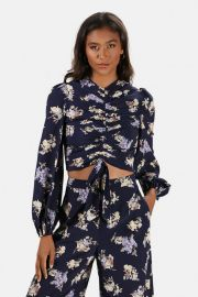 Sabotage Silk Ruched Blouse by Zimmermann at Blue and Cream