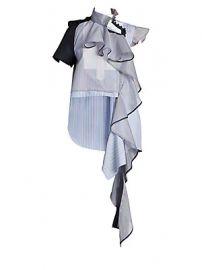 Sacai - Asymmetric Striped Organza Blouse at Saks Fifth Avenue