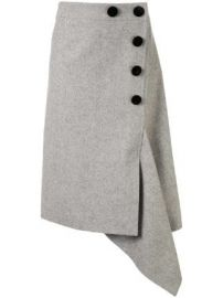 Sacai Button Up Asymmetric Skirt at Farfetch