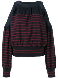 Sacai Cold Shoulder Knitted Top at Farfetch