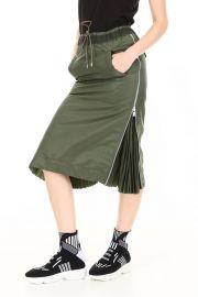Sacai Drawstring Midi Skirt at Cettire