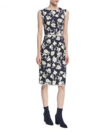 Sachin  amp  Babi Lillie Scalloped Floral-Print Dress   Neiman Marcus at Neiman Marcus