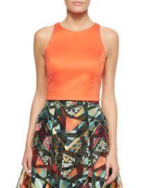 Sachin and Babi Noir Sleeveless Crop Top Orange at Neiman Marcus