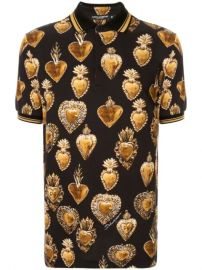 Sacred Heart print polo shirt at Farfetch