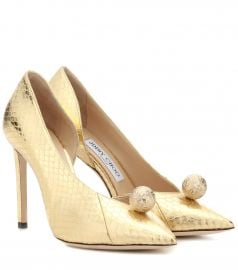 Sadira 100 snakeskin pumps at Mytheresa