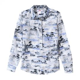 Safari Print Popover Blouse at Joe Fresh