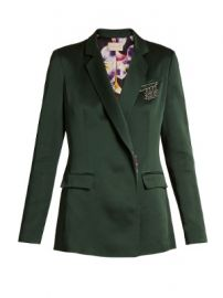 Safety pin-embellished cady blazer at Matches