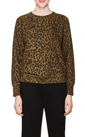 Saguro Leopard-Print Cotton Sweatshirt at Barneys