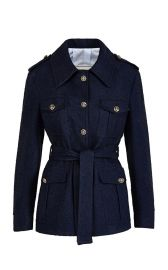 Sahariana Linen Cotton Blend Jacket by Giuliva Heritage at Moda Operandi