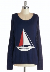 Sailing into Style Sweater at ModCloth
