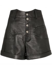 Saint Laurent high-waisted leather shorts high-waisted leather shorts at Farfetch
