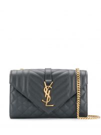 Saint Laurent quilted envelope shoulder bag quilted envelope shoulder bag at Farfetch