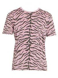 Saint Laurent - Cotton Print T-Shirt at Saks Fifth Avenue