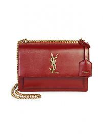 Saint Laurent - Medium Sunset Leather Shoulder Bag at Saks Fifth Avenue