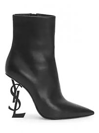 Saint Laurent - Opyum Leather Booties at Saks Fifth Avenue