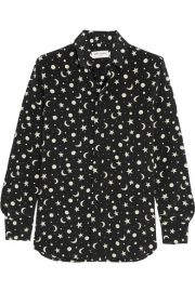 Saint Laurent - Printed silk crepe de chine shirt at Net A Porter