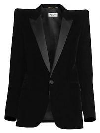 Saint Laurent - Velvet Tuxedo Blazer at Saks Fifth Avenue