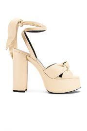 Saint Laurent Bianca Platform Sandals in Light Cream   FWRD at Forward