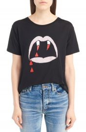 Saint Laurent Blood Luster Graphic Cotton Tee at Nordstrom