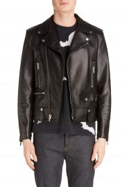 Saint Laurent Leather Moto Jacket   Nordstrom at Nordstrom