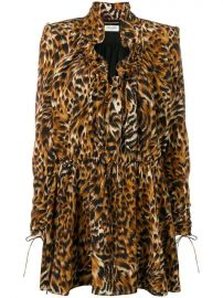 Saint Laurent Leopard Print Silk Dress - Farfetch at Farfetch