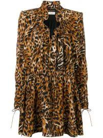 Saint Laurent Leopard Print Silk Dress - Farfetch at Farfetch