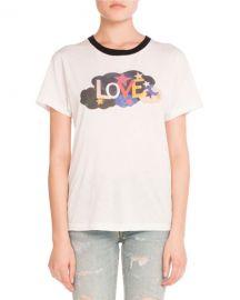 Saint Laurent Malibu Logo Graphic T-Shirt at Neiman Marcus