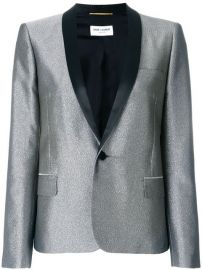 Saint Laurent Metallic Fitted Blazer - Farfetch at Farfetch