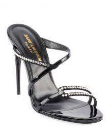 Saint Laurent Paris Embellished Slide Sandals at Neiman Marcus
