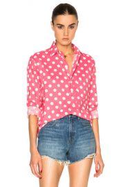 Saint Laurent Polka Dot Shirt in Rose   White   FWRD at Forward