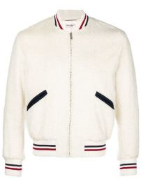 Saint Laurent Shearling Bomber Jacket - Farfetch at Farfetch