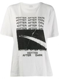 Saint Laurent Slogan Print T-shirt  - Farfetch at Farfetch