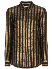 Saint Laurent Striped Shirt - Farfetch at Farfetch