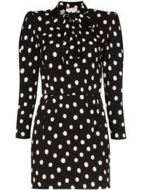 Saint Laurent polka-dot Mini Dress - Farfetch at Farfetch