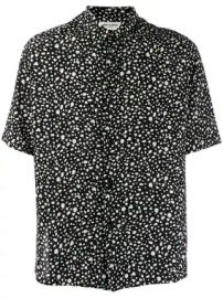 Saint Laurent polka dot print shirt polka dot print shirt at Farfetch
