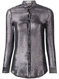 Saint Laurent semi-sheer Striped Shirt - Farfetch at Farfetch